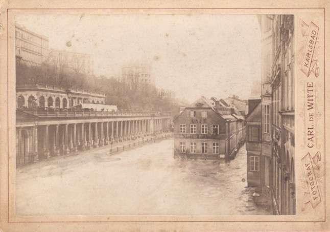 Hochwasser in Karlsbad im Jahr 1890