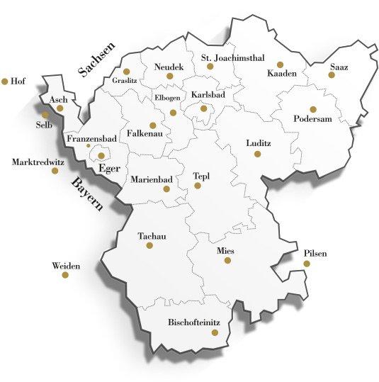 Karte vom Egerland