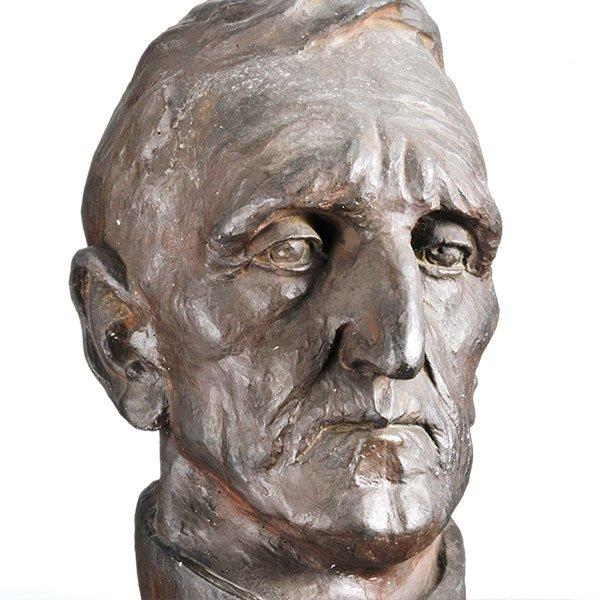 Wilhelm Srb Schloßbauer, * 1890 Karlsbad, + 1972 Geretsried, Büste Josef Hofmann,  Keramik, bronziert | Bysta Josefa Hofmanna, keramika, bronz