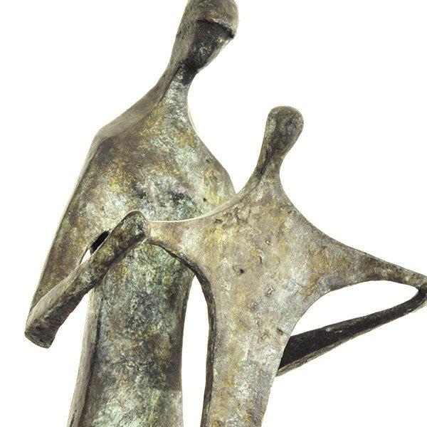Seff Weidl, * 1915 Eger, + 1972 Inning, Mutter mit Kind, um 1950, Bronze | Matka s dítětem, kolem roku 1950, bronz