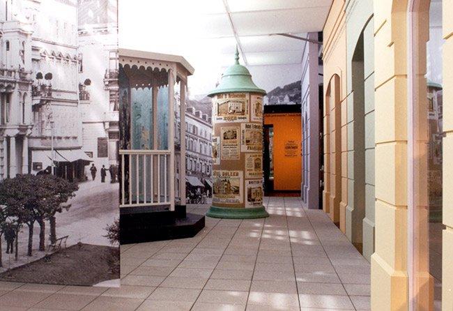 Nachgestellte Bäderstraße im Egerlandmuseum