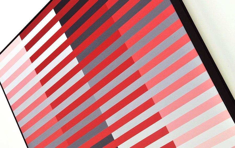 Horizontal, vertikal – rot, schwarz - Maler Professor Roland Helmer (* 1940 in Karlsbad-Fischern)
