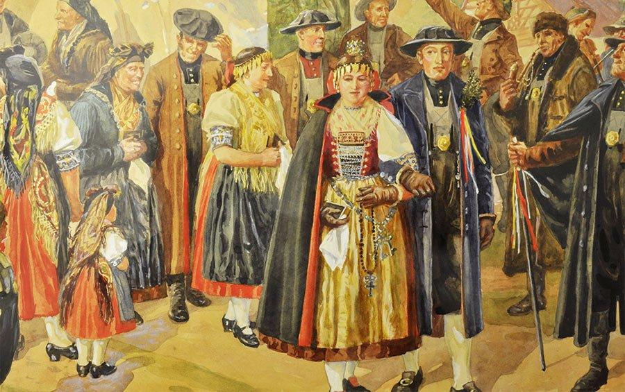 Egerländer Hochzeit - Künstler Gustav Zindel