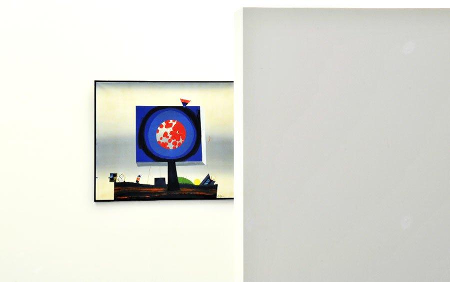 Signal an einen Kritiker - Künstler Ernst Wild