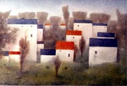 Häuser am Wald - Kunstwerk des Monats November 2006