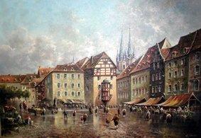 Markt in Eger - Kunstwerk des Monats Oktober 2005