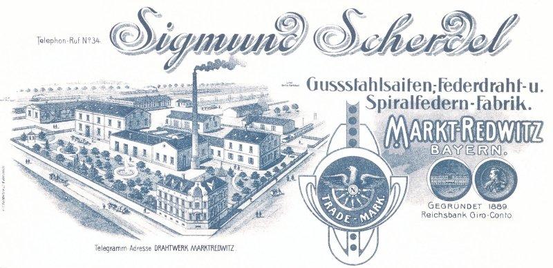 Der frühere Briefkopf der Firma SCHERDEL